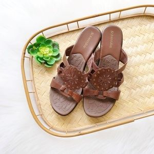 Brown Leather Wedge Sandals sz. 9
